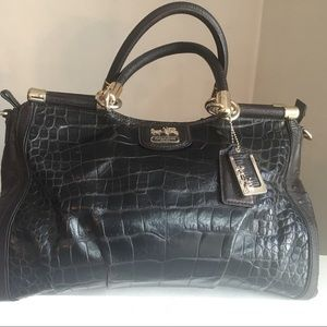 COACH Madison Pinnacle Leather Carrie Satchel Bag